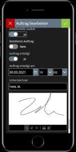 DispoApp Unterschrift